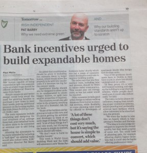 Bank incentives urged to build expandable homes – Irish Independent