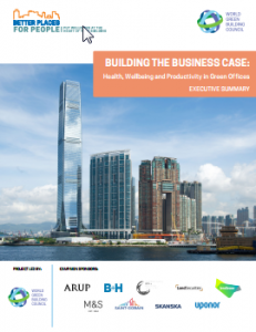 WGBC releases new report on Health Wellbeing and Productivity in office buildings.