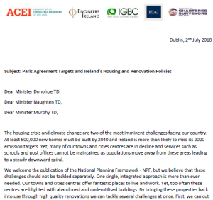 Leading Construction Industry Organisations Call for a more Holistic Approach to Energy Renovation in an Open Letter to Ministers